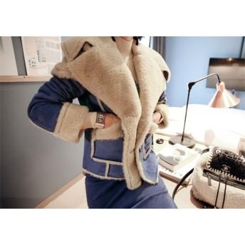【送料無料】 NEWタイプ登場暖かい春の準備 韓国ファッション 短いスタイル プラスベルベット 厚手 レザー 女性 コート 暖かい