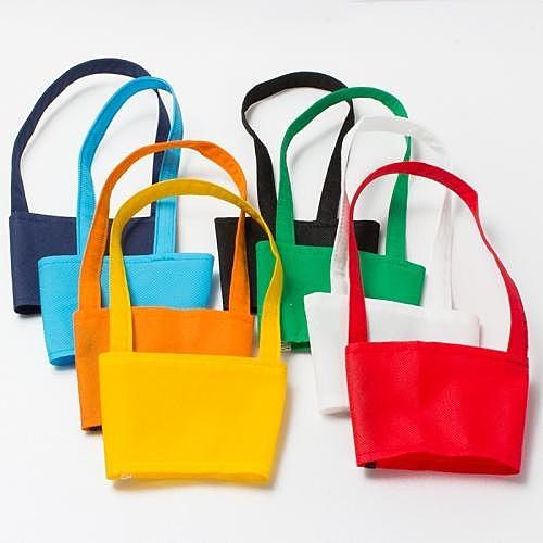 【50個含1色印刷】 超聯捷 寬版不織布杯袋飲料杯提袋 客製 S1-44028-50