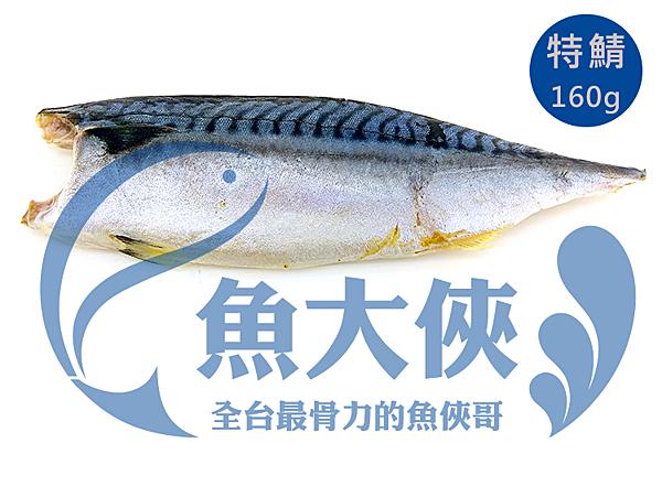 1G3B【魚大俠】FH058特級款薄鹽挪威鯖魚片(160G/片)