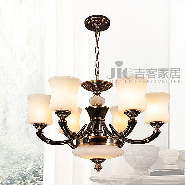 [吉客家居] 吊燈 JW142-142B 6光源 金屬玻璃造型時尚後現代工業餐廳民宿咖啡館居家飯店