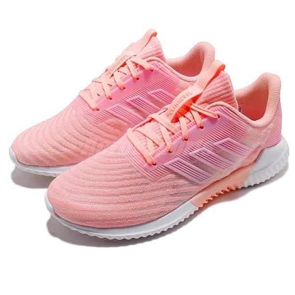 adidas 慢跑鞋 Climacool 2.0 粉紅 白 透氣 運動鞋 女鞋 【ACS】 B75853