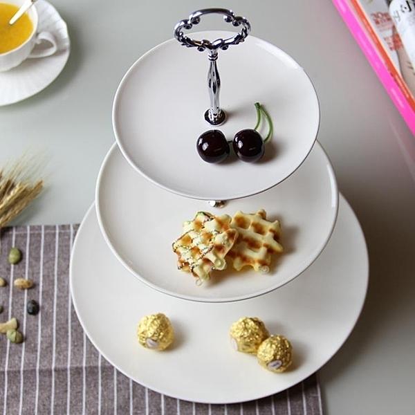 碟子 水果盤客廳創意下午茶點心架蛋糕架家用甜品台擺件 - 古梵希