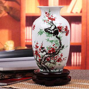 冬瓜瓶喜上眉梢 粉彩花瓶