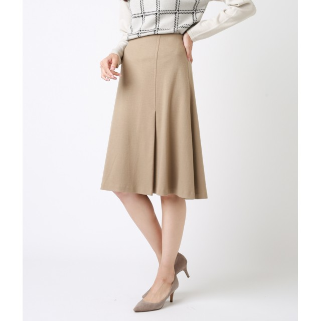NEWYORKER(ニューヨーカー)/圧縮ウールジャージー ラップデザイン風フレアスカート
