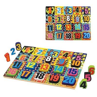 【華森葳兒童教玩具】拼圖教具系列-厚片拼圖-超大數字拼圖 N7-3832