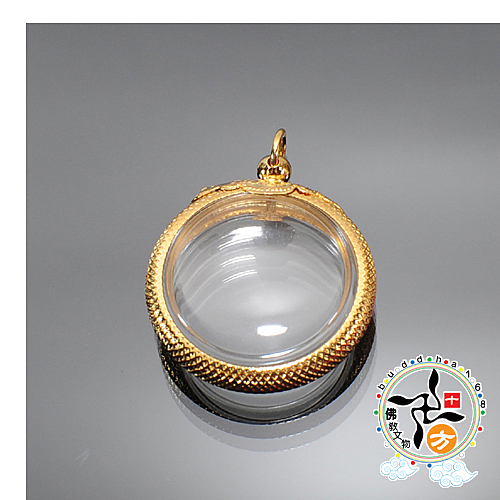 金圓滿舍利盒(直徑3.2公分)【 十方佛教文物】