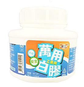 促銷~大富士 B250L 圓瓶附桿萬用白膠-12瓶入 / 盒