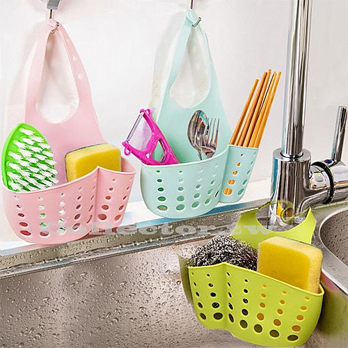 【超取399免運】可調節按扣式水槽收納掛籃 廚房多用途置物架 水龍頭海綿瀝水籃