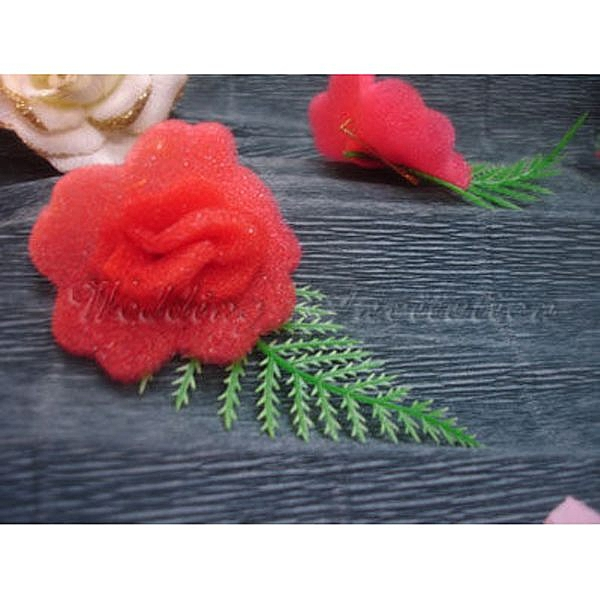 海綿胸花(紅) 胸花 禮儀名條 婚禮小物 婚俗用品 紅包袋【皇家結婚百貨】