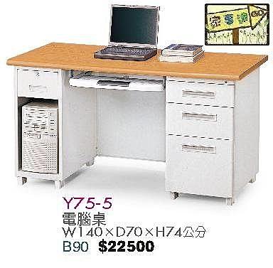 [ 家事達]台灣 【OA-Y75-5】 電腦桌 特價---已組裝限送中部