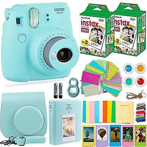 【美國代購】Fujifilm Instax Mini 9相機+富士Instax膠卷 40張 冰藍色