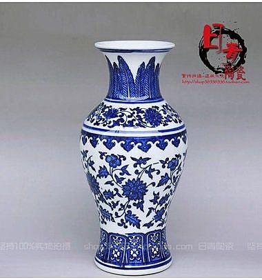 景德鎮陶瓷 仿古青花瓷器花瓶
