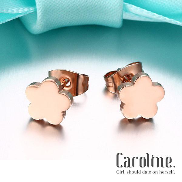 《Caroline》★【鈦鋼】甜美魅力、高雅大方設計配飾流行時尚鈦鋼耳環69343