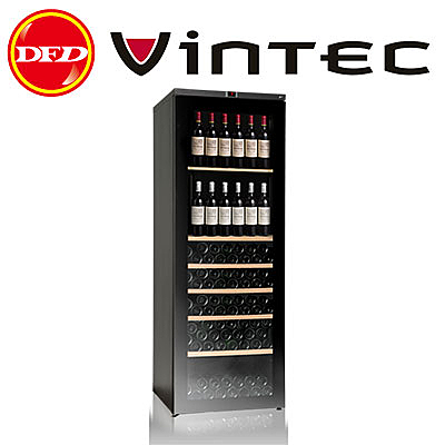 法國 VINTEC V300SGEBK 單門單溫酒櫃 Seamless Stainless Steel 公司貨 約裝300瓶 丹麥研發設計