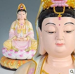 15寸德化陶瓷觀音佛像