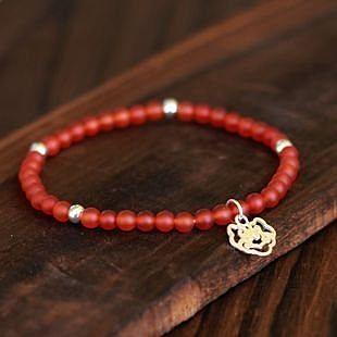 手工飾品 女 紅瑪瑙 磨砂款