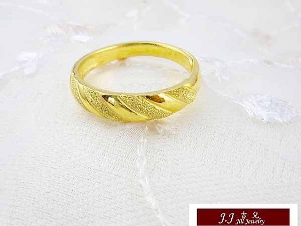 9999純金 黃金金飾 簡單 低調 黃金戒指