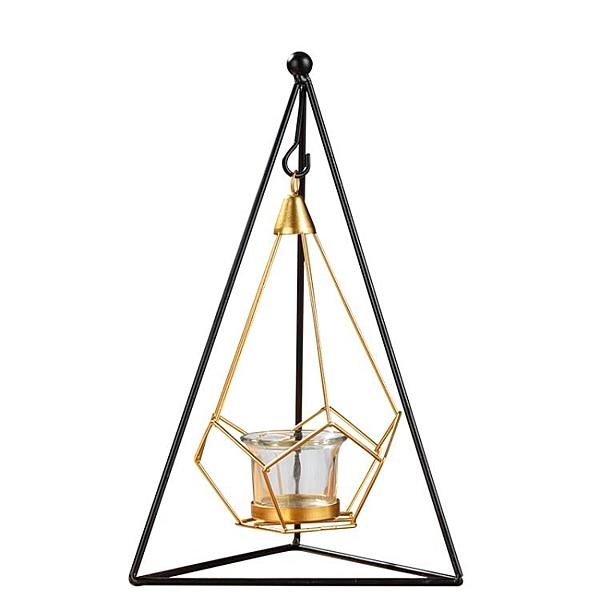 燭臺擺件燭光晚餐道具燈北歐鐵藝蠟燭臺