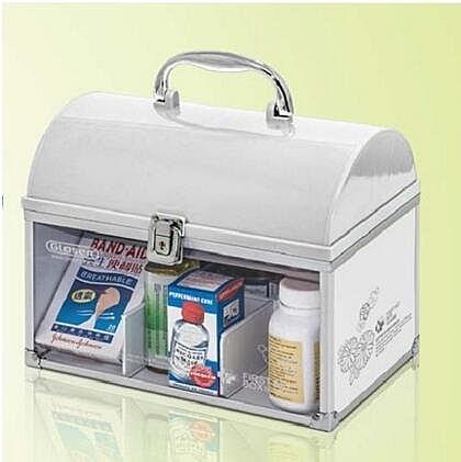 白色R8326家庭醫藥箱多層急救箱藥品收納盒小號家用兒童