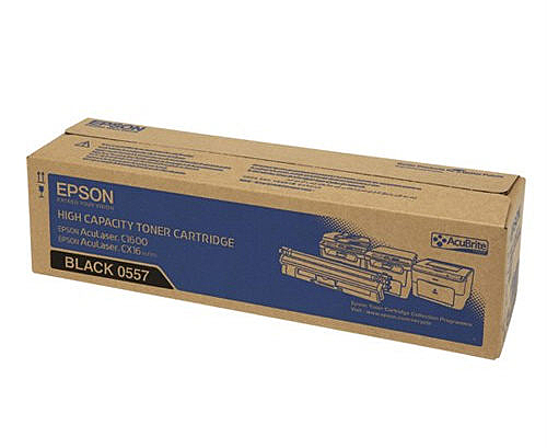 【全館免運●3期0利率】EPSON 原廠黑色碳粉匣 S050557 適用EPSON C1600/CX16NF 雷射印表機