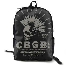 バックパック リュック CBGB New York Rock Club 大容量 リュックサック 多機能 通勤 通学 デイ ハイキングバッグ アウトドア レディース 登山用 デイパック