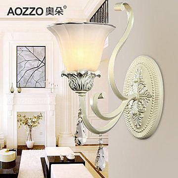 壁燈歐式水晶床頭燈創意鏡前燈牆壁臥室燈具70040新E