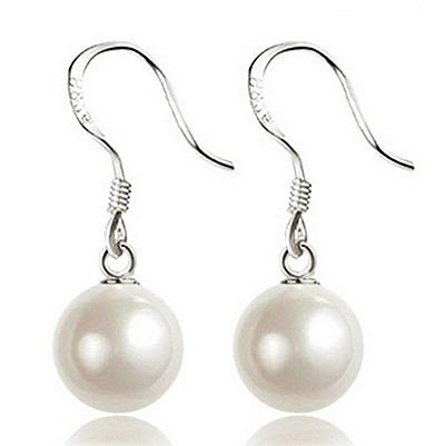 925純銀耳環(耳針式)珍珠-優雅氣質垂吊式生日母親節禮物女耳飾2款73ac81【巴黎精品】