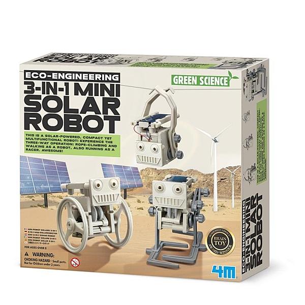 【4M】03377 科學探索-太陽能小幫手 3-in-1 Mini Solar Robot