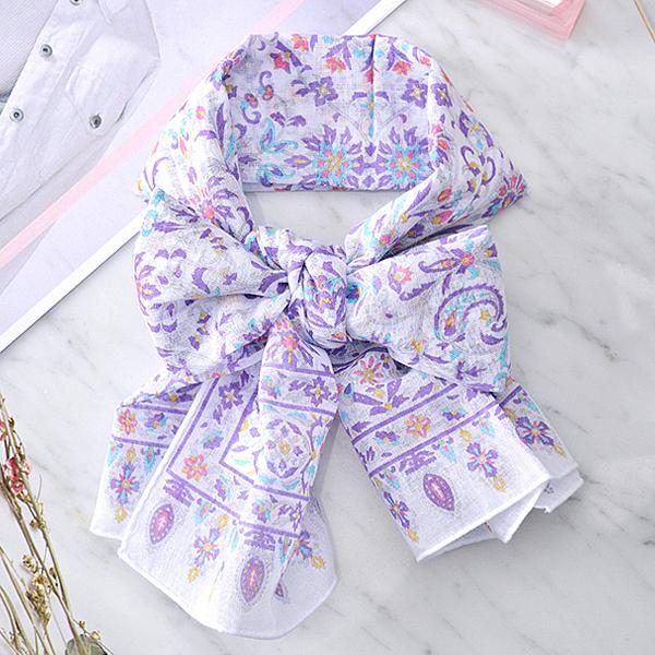 日本集彩苑 - Bird Series 鳥シリーズ披肩/圍巾/方巾/頭巾(紫)《日本設計製造》
