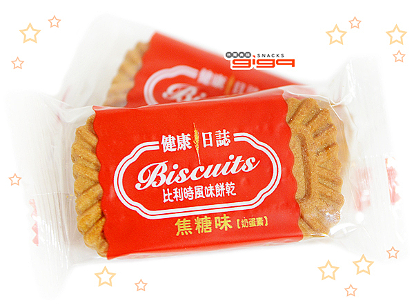 【吉嘉食品】健康日誌 比利時焦糖餅(單包裝)奶蛋素 500公克 {FE1-3}[#500]