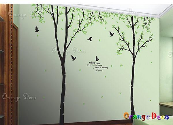壁貼【橘果設計】林間鳥語 DIY組合壁貼/牆貼/壁紙/客廳臥室浴室幼稚園室內設計裝潢