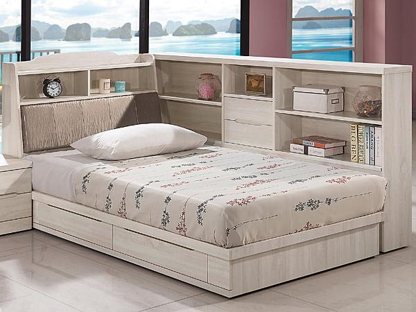 床架 QW-011-6A 瑪奇朵3.5尺單人床 (床頭+床底)(不含床墊) 【大眾家居舘】