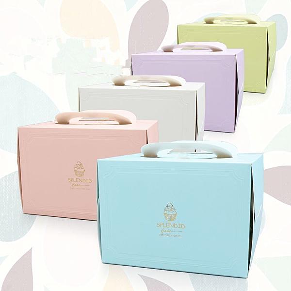 附底托 6寸8吋 歐式燙金壓痕生日蛋糕盒包裝盒【C034】慕斯西點盒 紙盒 奶油蛋糕盒 外帶盒