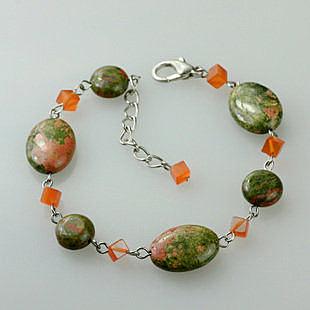 花綠石手鏈女誇張個性復古手飾 飾品