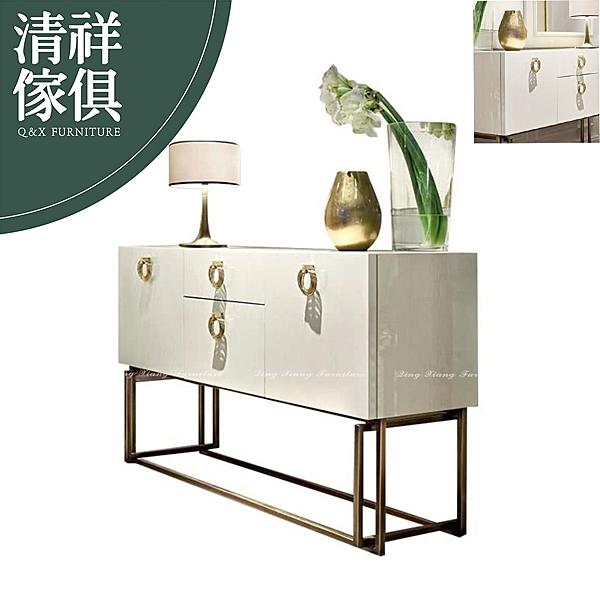 【新竹清祥傢俱】PRF-34RF02-現代輕奢烤漆不鏽鋼餐櫃 現代 輕奢 餐櫃 置物櫃 餐廳 玄關櫃