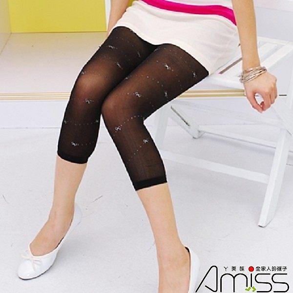 Amiss【A716-5】七分燙金內搭♥蝴蝶結