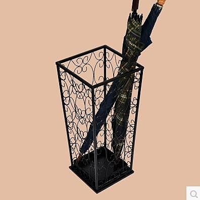 【京东生活小物】歐式鐵藝酒店大堂家用放雨傘架方形創意辦公室雨傘桶放傘桶傘架子
