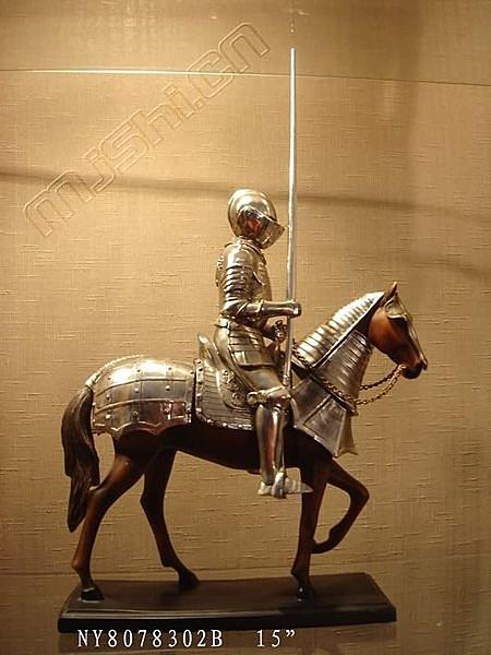 東南亞風格傢俱飾品/泰國家居/騎馬歐洲武士