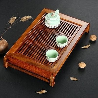 原木茶盤-抽屜式進口實木製茶盤2款68ac42[時尚巴黎]
