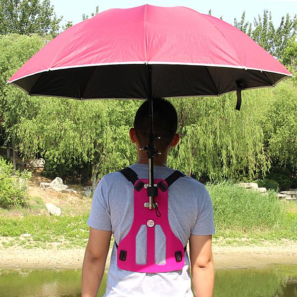 雨傘背板釣魚傘太陽傘多功能遮陽傘垂釣傘摺疊釣傘萬向傘WY【萬聖夜來臨】