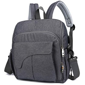Women Backpack Outdoor Large Capacity Backpack Fashion Casual Business Bag (Dark grey)