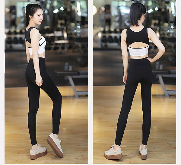 女士健身服夏季顯瘦瑜珈服韓版運動跑步服瑜伽服套裝- xby0010