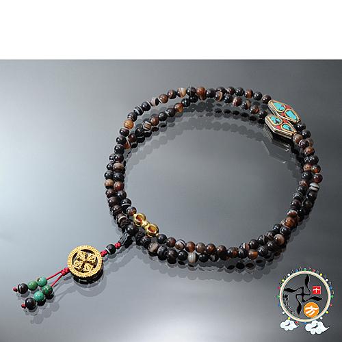 十字杵&藥師珠108念珠6mm【十方佛教文物】