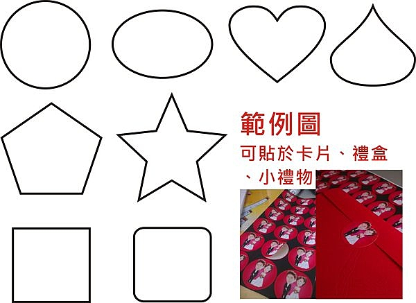 客製化小貼紙-圓形/心形/方形/水滴形/星形/橢圓貼-【Fruit Shop】
