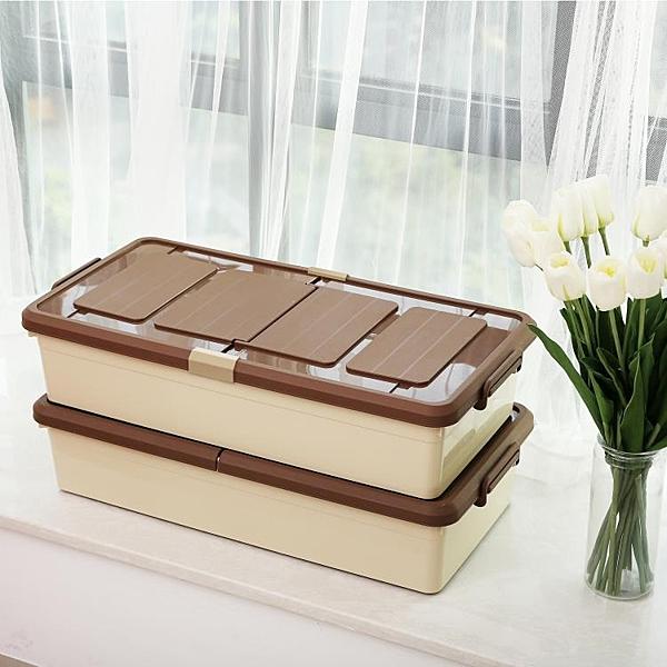 特大號床底收納箱抽屜式扁平塑料收納盒整理箱床下 NMS 露露日記