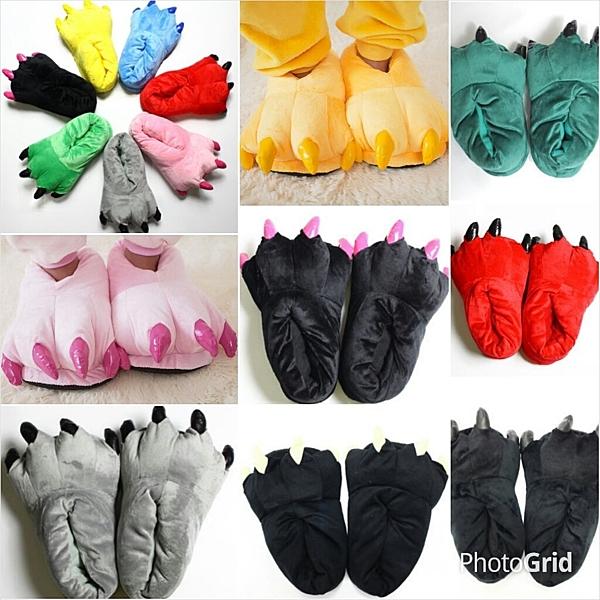 Yap 平價好品~如廁版 卡通 連身連體睡衣 搭配爪子 地板拖鞋 室內鞋 造型鞋M&寶寶賣場