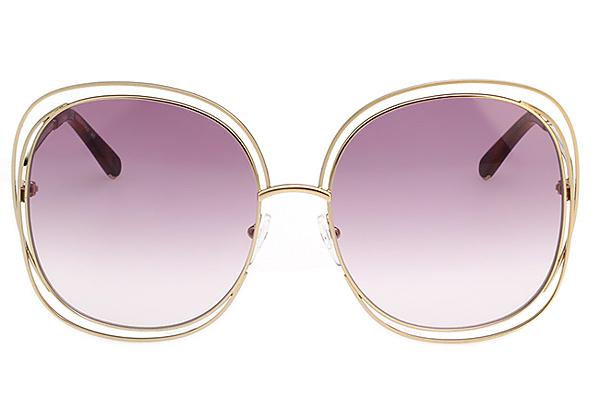 CHLOE 金屬大框 太陽眼鏡 金色 CE126S-803