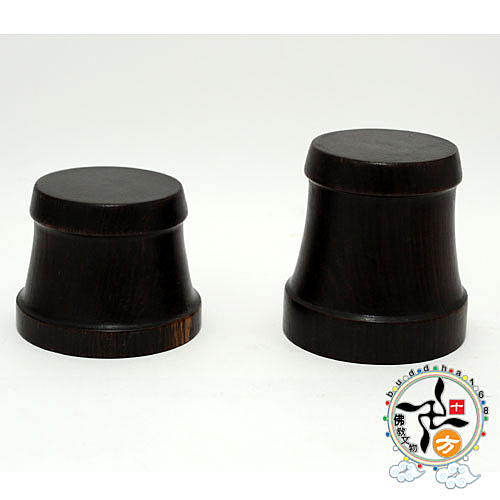 黑紫檀圓形木座(高4.5公分)  【 十方佛教文物】
