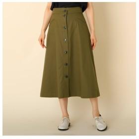 【クチュール ブローチ/Couture brooch】 【WEB限定サイズ(LL)あり/手洗い可】フロントボタン ミモレスカート