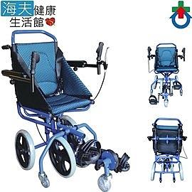 杏華機械式輪椅(未滅菌)【海夫健康生活館】扶手可掀 腳靠可拆 復建型 鋁製 輪椅(OP-PW2)